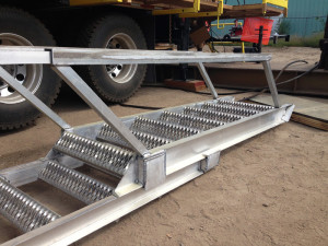 Adjustable Stairs for Workover Rigs - Manufacturing