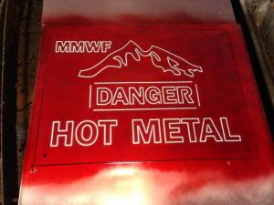 Custom Signage - Etching Hot Work Sign